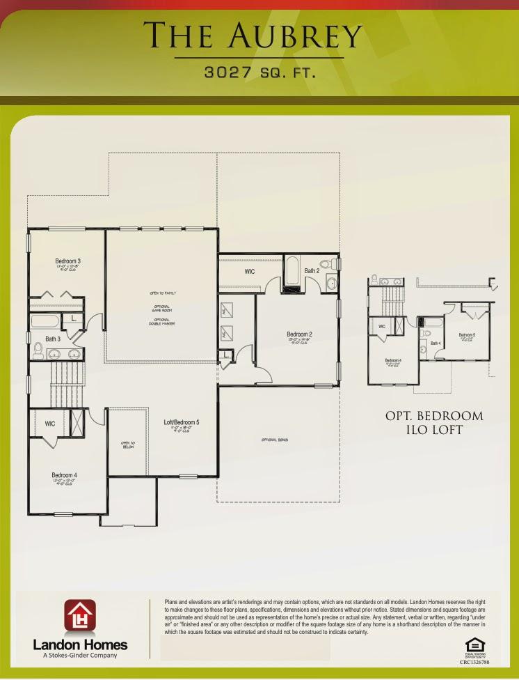 Landon Homes Featuring The Aubrey Floor Plan Benton