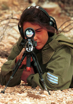 Latihan Berat Tentara Wanita Israel (Foto)