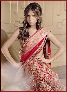 Victoria Beckham in saree