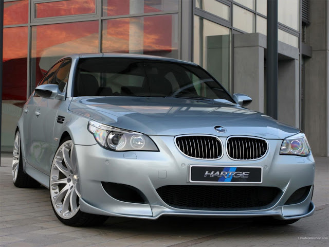 Elegant front image of BMW 5