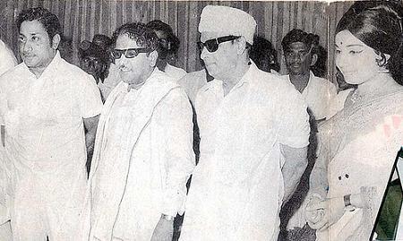 Shivaji Ganesan, M. Karunanithi, MGR & Jayalalitha