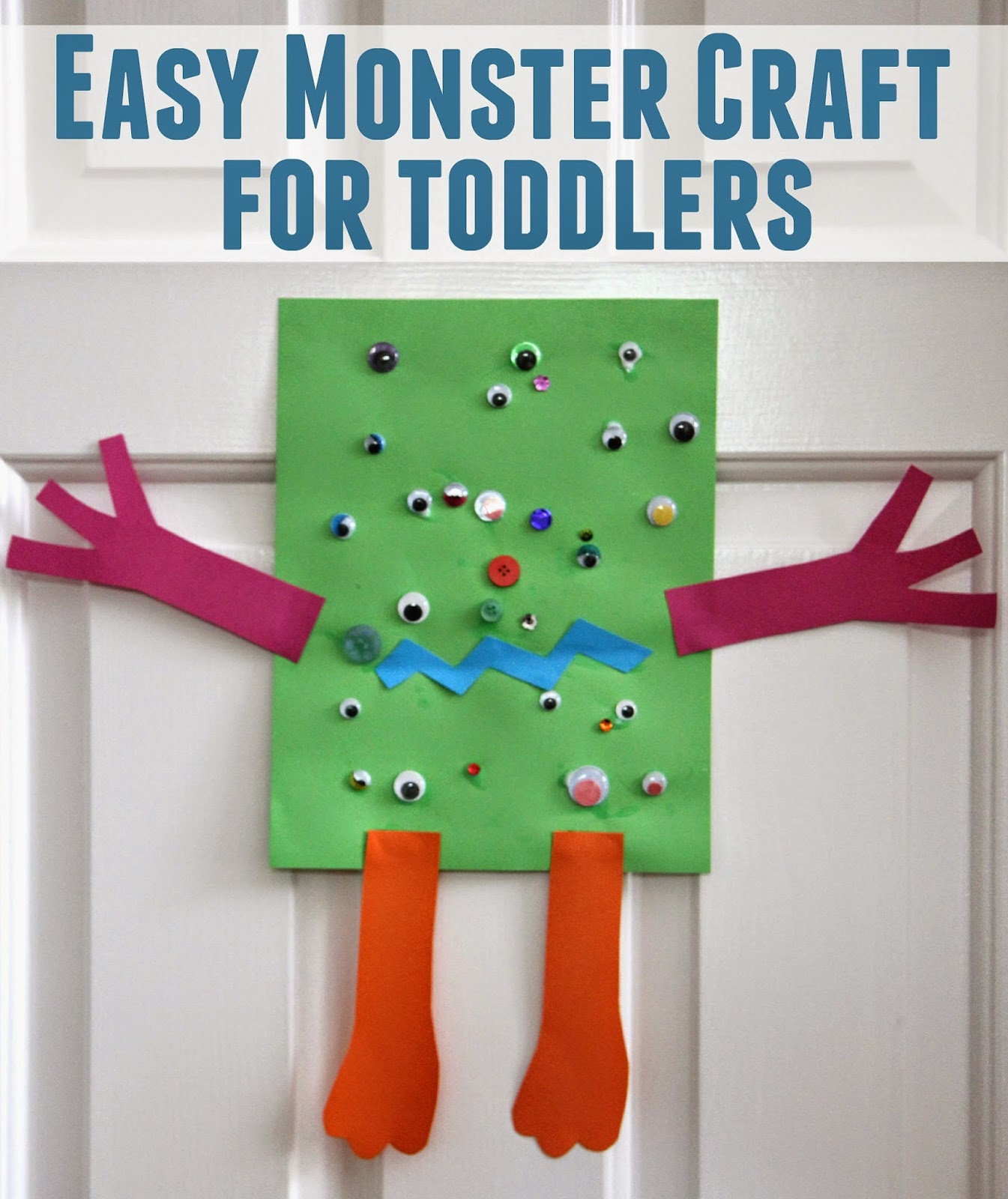 Toddler Approved Easy Monster Craft For Toddlers