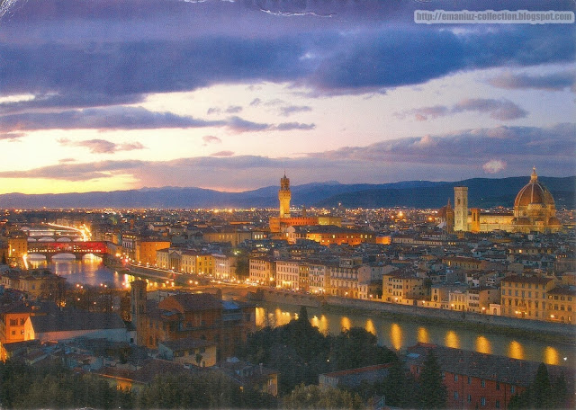 Postcard | Italy | View of Florence (Firenze)