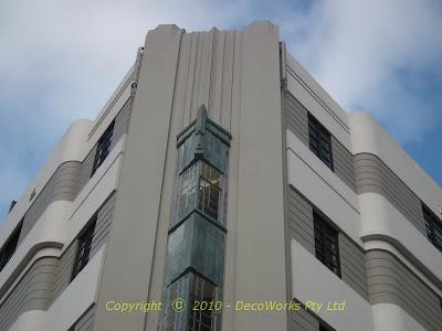 Imposing corner facade