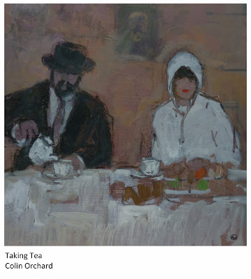 Taking Tea, a painting by Colin Orchard