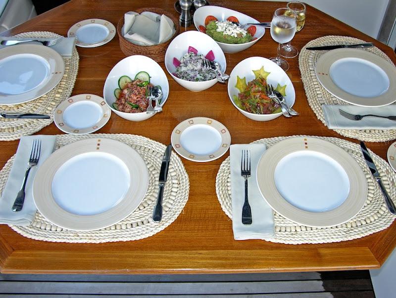 Dinner at Catamaran