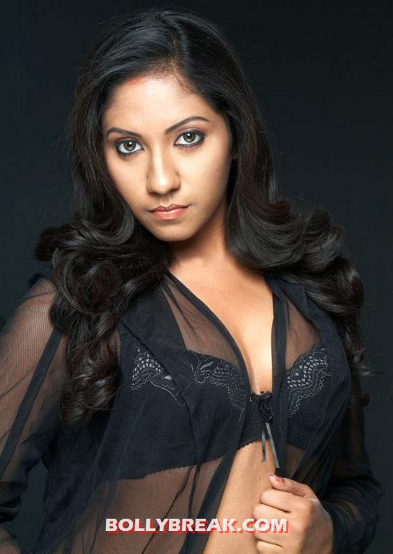 , Asha  Hot Photos In Transparent Black Top