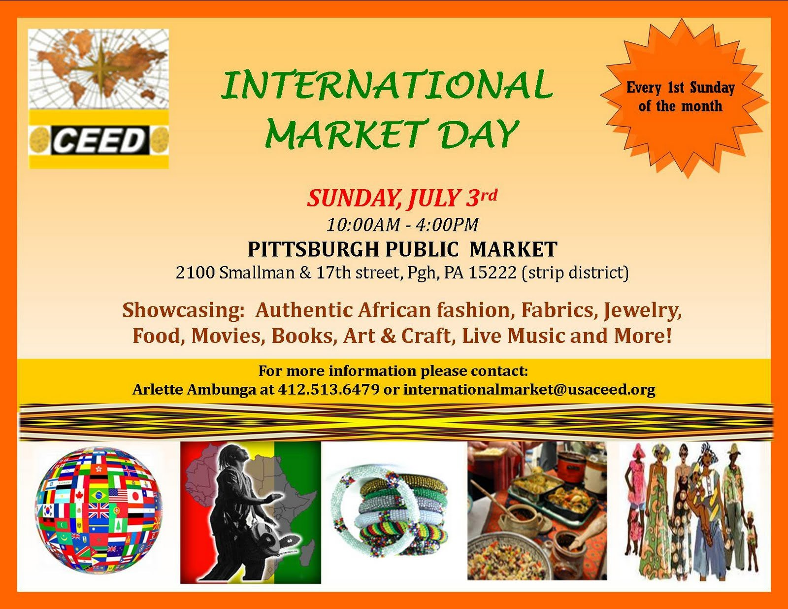 Globalpittsburghnews international market day launches for International arts and crafts