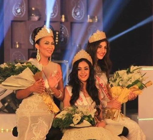 Kanika Kapur -Miss Asia 2015, Jeyla Quliyeva -the first runner up and Alfe Marie Nathanile -the second runner up of the Miss Asia  2015