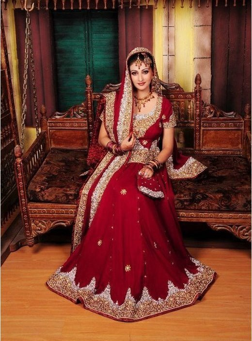 Beautiful bridal dresses in red colour images