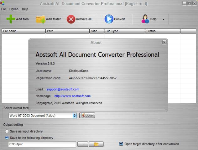 Aostsoft , Document Converter