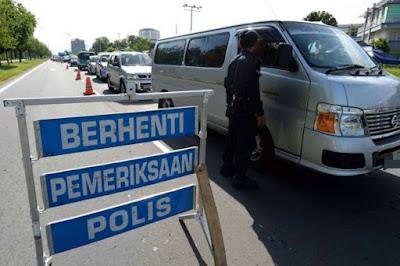 polis road block