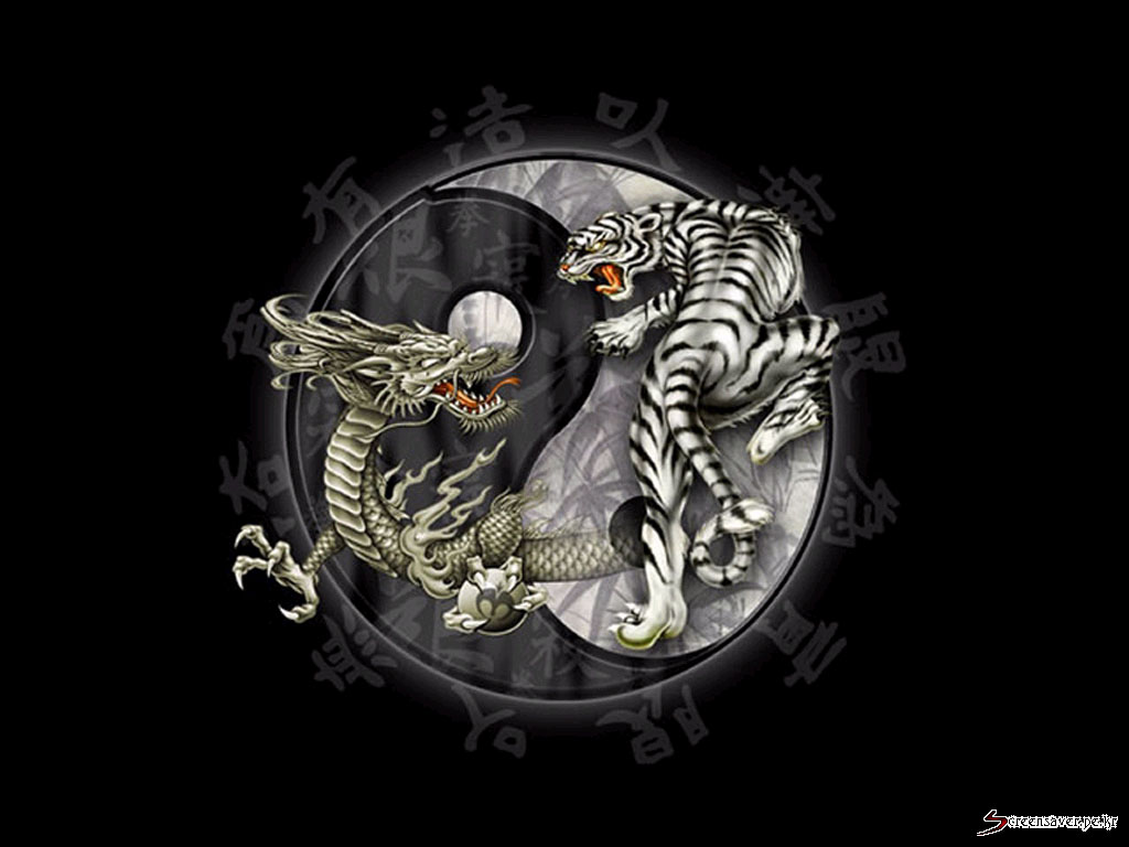 ying and yang dragon and tiger meaning