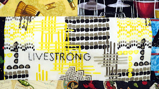 fuck cancer quilt with livestrong hand embroidery