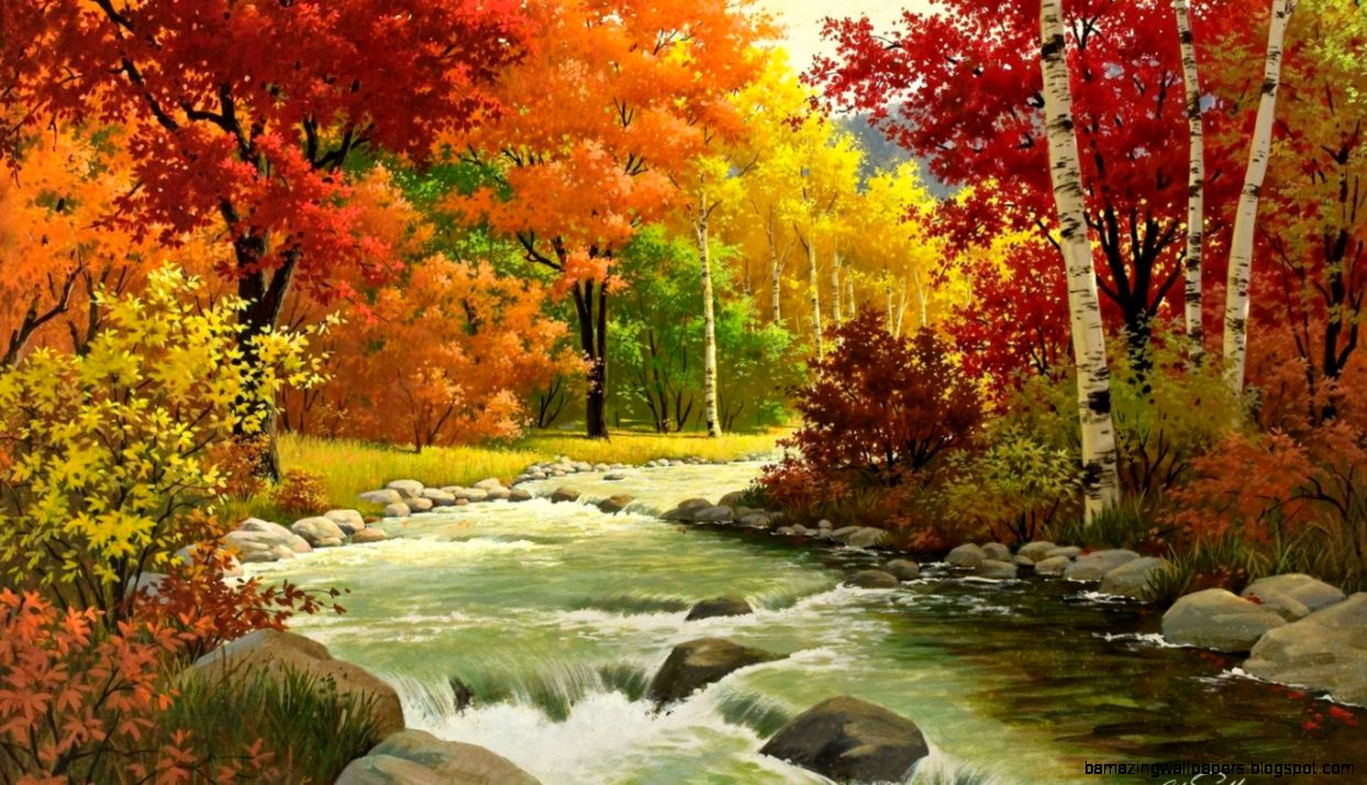 Fall Landscape Wallpaper   WallpaperSafari