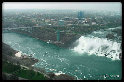 Niagara Falls view from hotel