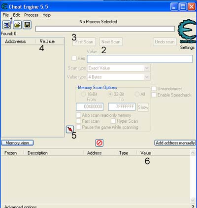 cara cheat gems with cheat engine