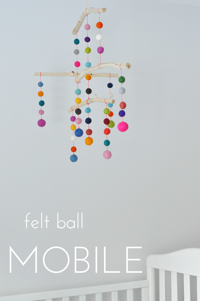 my sparkle felt ball mobile