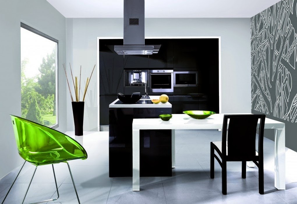 Modern Simple Kitchen HD Wallpaper Design