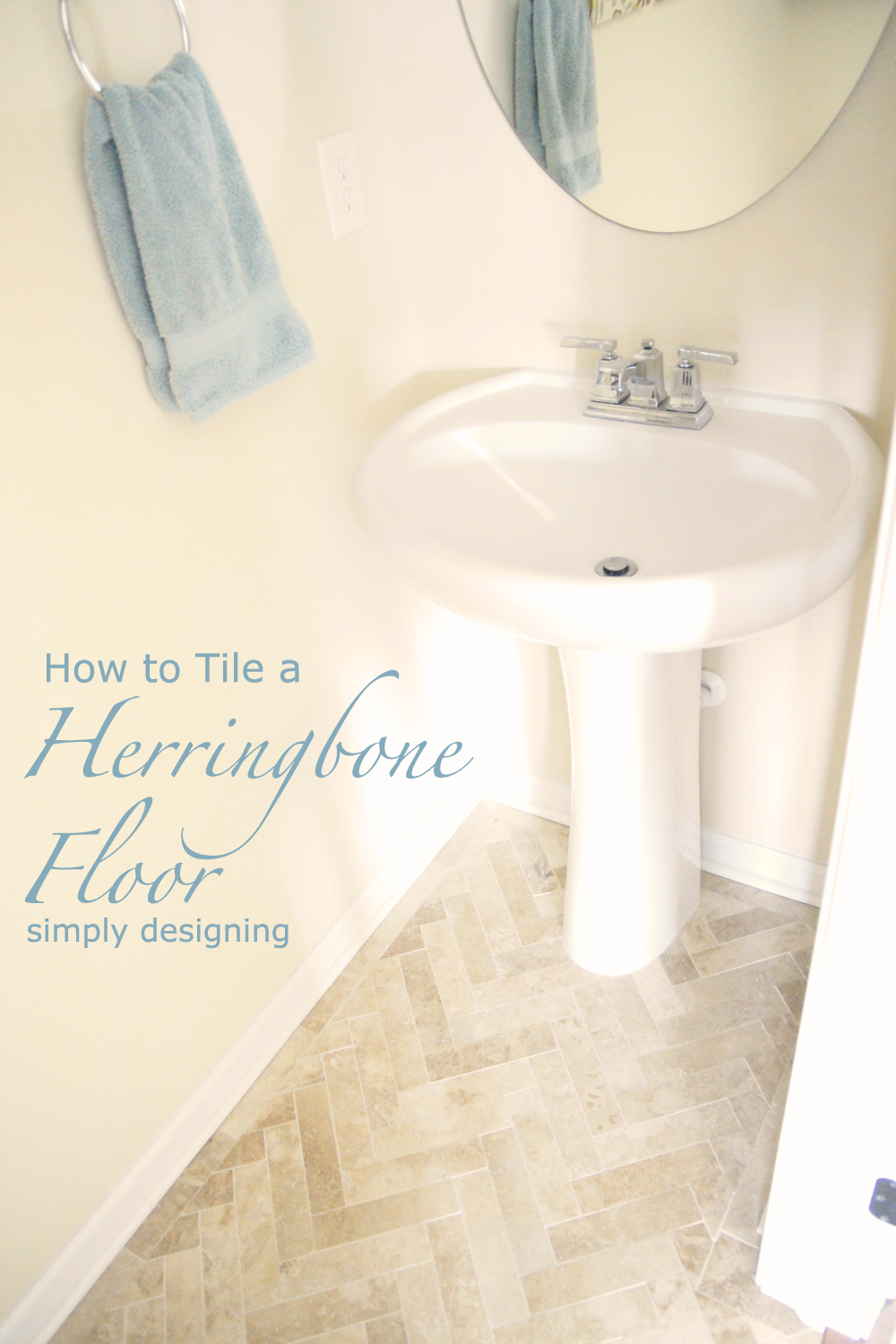 How to Install Herringbone Tile Floors | a complete tutorial for laying tile flooring and herringbone tile flooring | #diy #herringbone #tile #tilefloors #thetileshop @thetileshop