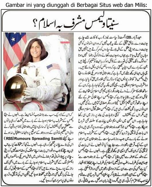 sunita williams wanita india pertama yang pergi ke bulan