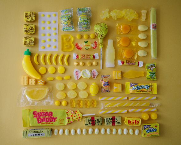 Emily Blincoe photography colors food sweet sugar candies organized