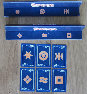 Pictomania - 2 Cardboard Holders, with six different symbols and their corresponding cards