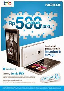 Nokia Lumia 925 CashBack Rp 500 Ribu