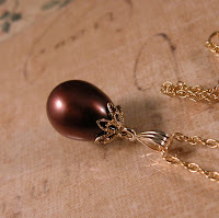 chocolate pearl, gold vermeil and gold fill necklace