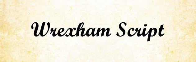 Wrexham Script | 少し太めでクッキリ見やすい筆記体フリーフォント。商用可。
