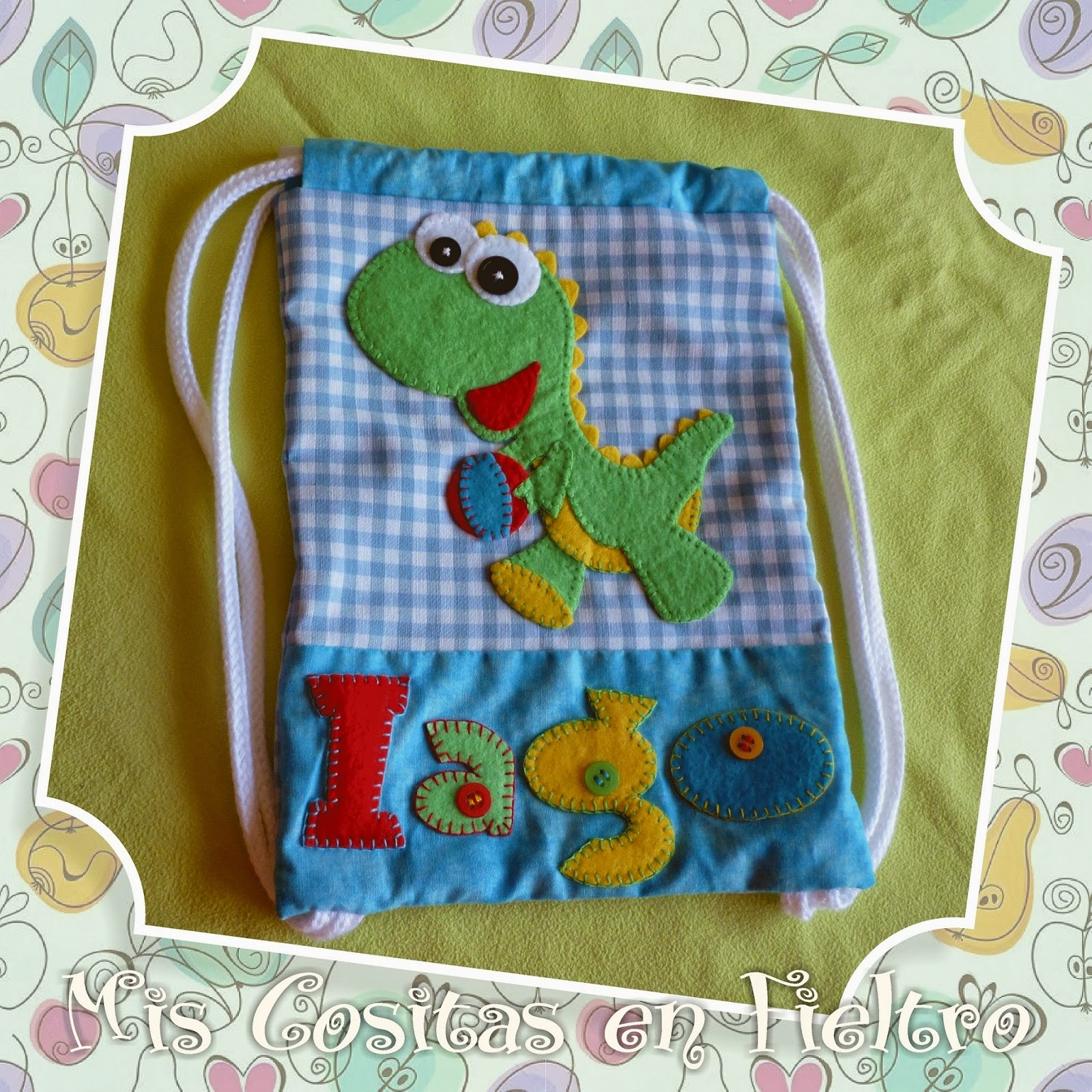 mochila de merienda, mochila para merienda, bolsa de merienda, fietlro, niños, merienda, regalo, dinosaurio, dinosaurios