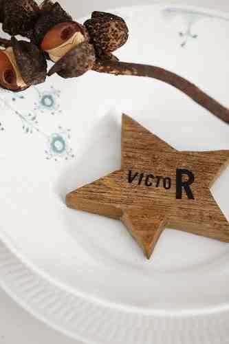 Oryginalna dekoracja świątecznego talerza