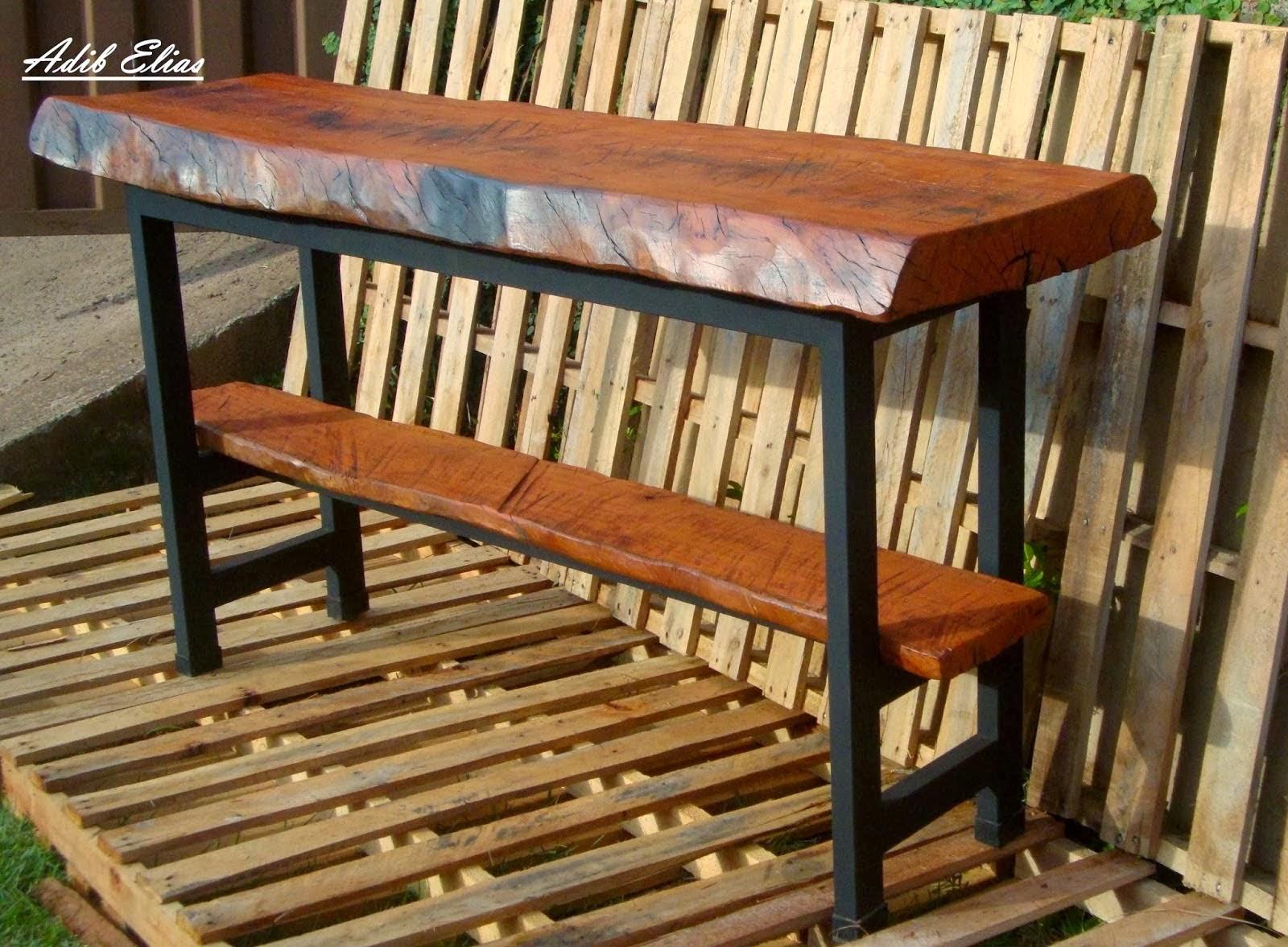 Aparador de madeira reciclada com base de pés de máquina de costura  #AD5319 1600x1177