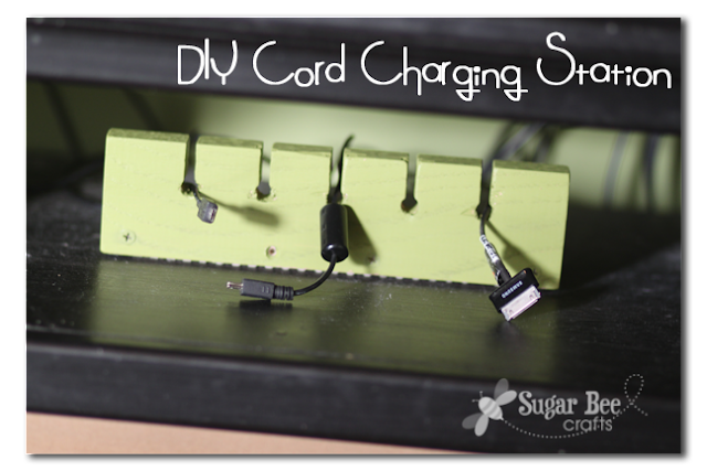 Diy charging station organizer sugar bee crafts Charger cord organizer diy