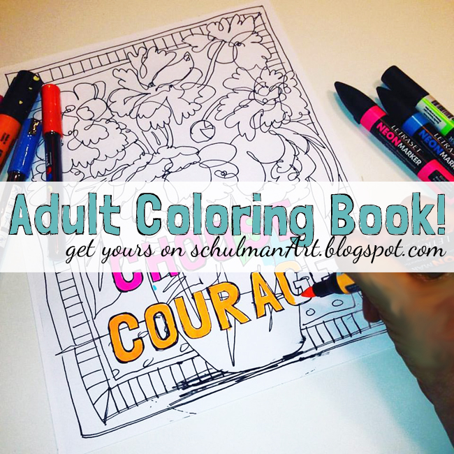 adult coloring book http://schulmanart.blogspot.com/2015/10/relieve-stress-with-adult-coloring-book.html