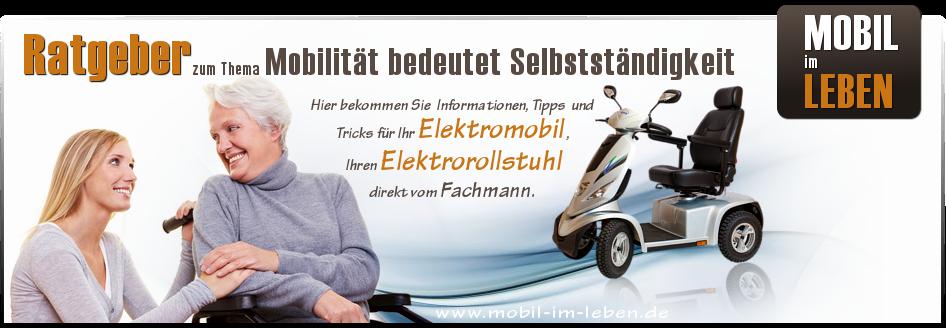 Mobil im Leben - Ratgeber Senioren | Elektromobile | Elektrorollstühle