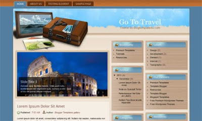 Go To Travel Blogger Template. free travel blogger template