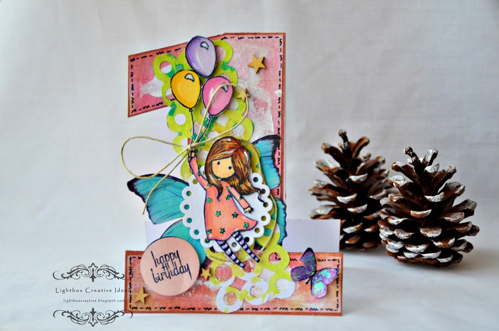 Lightbox creative ideas 1st birthday baby girl card 1st birthday baby girl card bookmarktalkfo Images