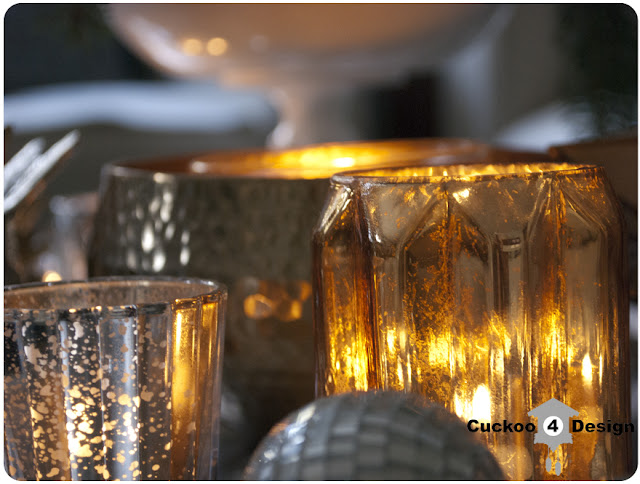 silver and gold mercury glass tea light glasses