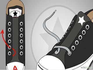 Cara Mengikat Tali Sepatu Converse Yang Keren Part 3