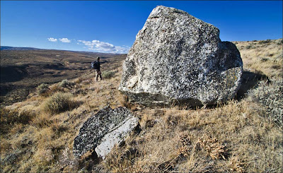 Ice Age Flood erratic carried to this point on Glacial Lake Missoula Floods.
