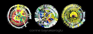 spin painted recycled vinyl records