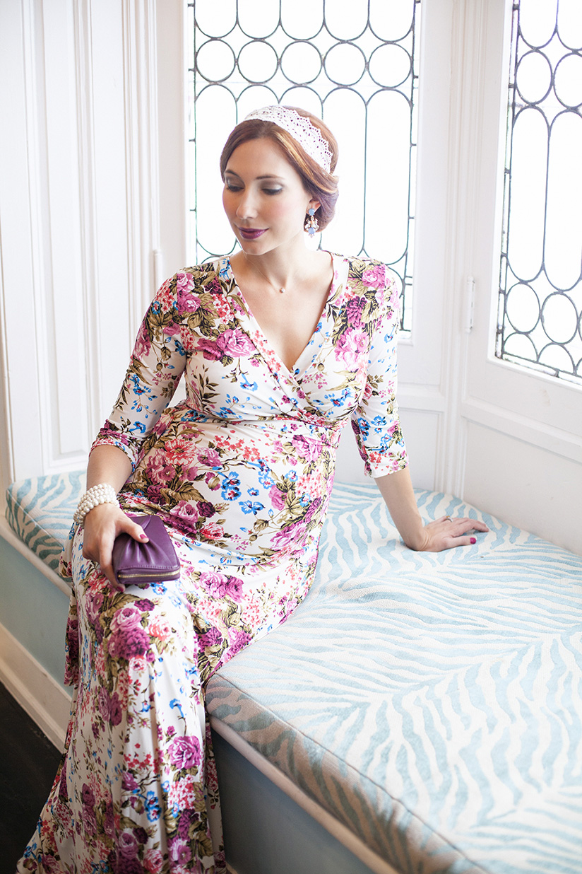In bloom outfit post featuring pink blush maternity fashion and travel blogger amy west features this floral maternity maxi from pink blush maternity on ombrellifo Images