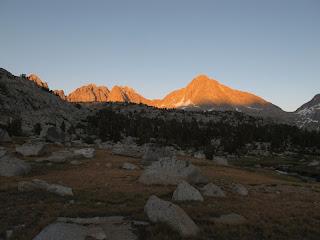 Columbine Peak in der Abendsonne