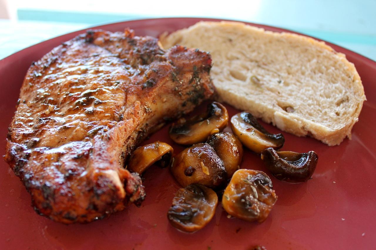 Baked jerk pork chops recipe
