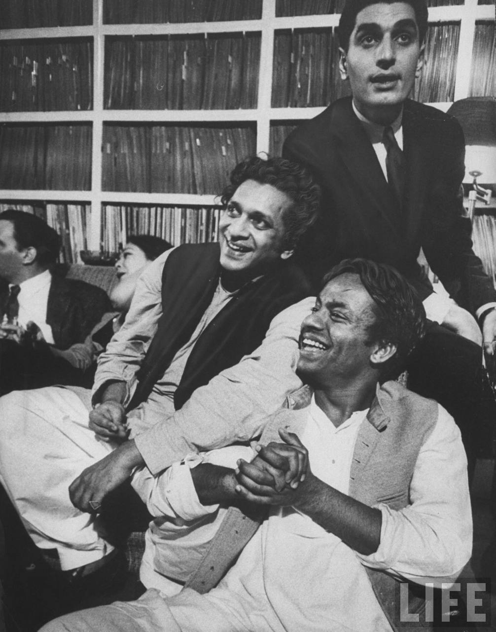 Pandit Chatur Lal with Pandi Ravi Shankar in a light mood Source: Life Archive hosted by Google