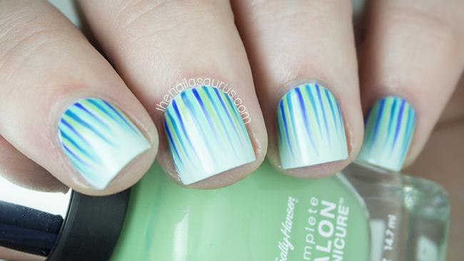 Mint Green Waterfall Nail Art | Nailvengers | The Nailasaurus UK  Nail Art Blog