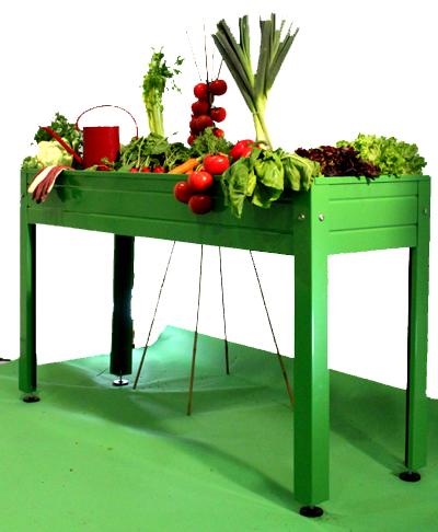 Missjardin mesas de cultivo para huertos urbanos for Mesas de cultivo urbano