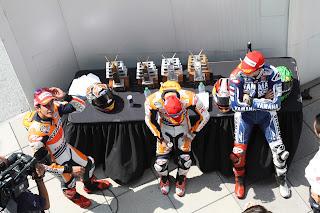 podium de motogp en indianapolis