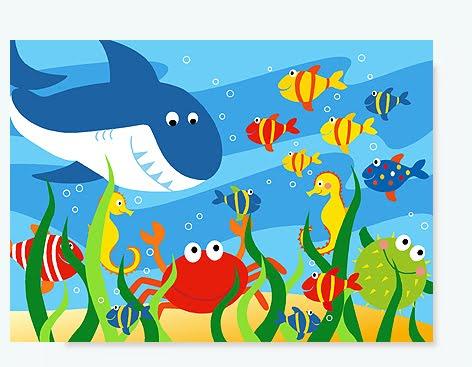 Unterwasserwelt Kinderzimmerbild